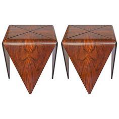 "Original Pair of ""Petala"" Side Tables by Jorge Zalszupin"