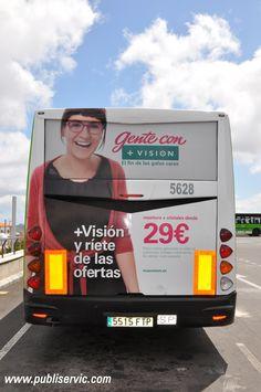 + Visión publicitado en el mejor soporte para publicidad exterior de Publiservic Canarias las guaguas de TITSA, ¿te interesa? Contacta con Publiservic Canarias email: comercial@publiservic.com o al teléfono en España +34 922-64-68-24 #rotulacion #vehiculo #autobus #publiservic