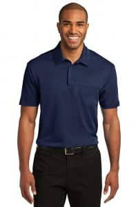 Port Authority Men's Silk Touch Performance Pocket Polo XL Carolina Blue polyester double knit with PosiCharge technology Self-fabric collar Tag-free label placket with dyed-to-match buttons Left chest pocket Silk Touch, Professional Look, Carolina Blue, Business Outfits, Golf Shirts, Polo Ralph Lauren, Pocket, Mens Tops, Products