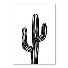 "Varick Gallery Cabrini Cactus on Graphic Art Size: 24"" H x 18"" W"
