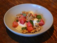 At Rich Table in San Francisco's Hayes Valley, chefs Evan Rich and Sarah Rich turn out fantastic seasonal food, including #watermelon sundae for dessert.