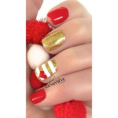 15 Easy Cute Valentine's Day Nail Art Designs Ideas 2016 Valentine's... ❤ liked on Polyvore featuring beauty products, nail care and nail treatments