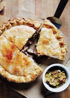 Tourtière du Shack - Recipe by Martin Picard of Au Pied de Cochon.  French Canadian meat pie filled w/ rib-sticking pork.