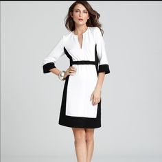 Shop Women's Nanette Lepore Black White size 6 Midi at a discounted price at Poshmark. Description: Elbow Sleeve Death Defying Dress. Size 6. Excellent condition. Sold by wearwhatyouluv. Fast delivery, full service customer support.