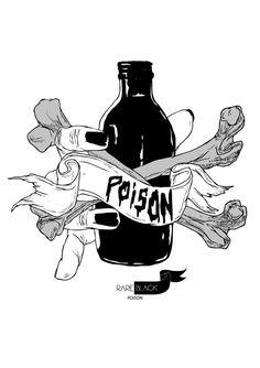 Poison - ink sketch X print