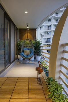 Interior Balcony, Small House Interior Design, Home Room Design, Interior And Exterior, House Design, Door Design, Small Balcony Decor, Balcony Design, Balcony Ideas