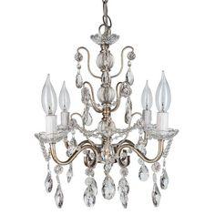 Shabby Chic Silver Crystal Chandelier Amalfi Decor