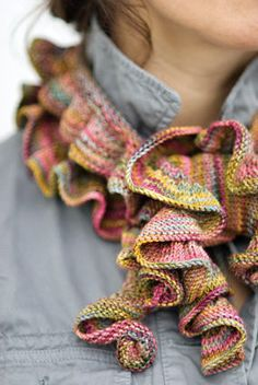 Barb's Koigu Ruffle Scarf by Churchmouse