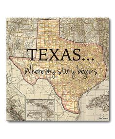 Another great find on #zulily! 'Texas' Wrapped Canvas #zulilyfinds