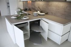 T - keuken greeploos mat wit (9.3) Home Kitchens, New Homes, Modern, Organize, David, House, Inspiration, Tips, Design