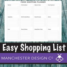 Details Get your food shopping organised with this simple shopping planner. Plan your food shopping that day or week. This is an instant download, so you can buy now and be planning in minutes! Designed by us so you dont have the hassle. Nice and simple. This printable high-resolution PDF includes 1 page:  • Food Shopping Planner: Organise your shopping for the day or week. _________________________________________________________________________________________  FEATURES:  • Size: PDF A4…