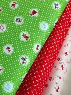Little Red Riding Hood fox fabric bundle by Tasha Noel for Riley Blake-  Yard Bundle, 3 total