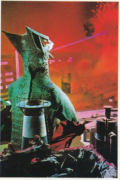 zeroco: Vintage Showa Era Gamera Art by modern_fred on Flickr. ギャオス The coolest flying kaiju in the world ever