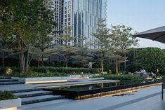 Thing 1, Arch Light, Commercial Complex, Landscape Architecture Design, Rooftop Garden, Landscape Lighting, Urban Landscape, Water Features, Garden Design