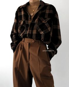 Modetrends source by rosenbaumjamiecasper aesthetic clothes retro modetrends source by araujoborbon high jordan obsidian outfits casuales tenis juvenil retro unc Vintage Outfits, Retro Outfits, Casual Outfits, Flannel Outfits, Hijab Casual, Trouser Outfits, Vintage Clothing Styles, Hipster Style Outfits, Soft Grunge Outfits