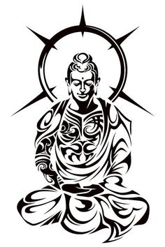 Music tattoo designs from clef can have outlines and also curves to contribute at the fascination of a lot of tattoo design about music tats. Buddha Tattoo Design, Buddha Tattoos, Yoga Tattoos, Body Art Tattoos, Tribal Tattoos, Sleeve Tattoos, Polynesian Tattoos, Geometric Tattoos, Hand Tattoos