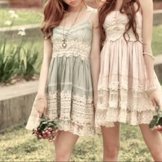 These dresses are really cute! I love the vintage style and the colors used for them too! If only they were a little longer. I'd probably wear something like this when I went to the beach! :)