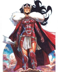 Lady Sif by Stephen Segovia #Ladysif #copic #colorpencil #commissionart #herofestival #france #marvel""