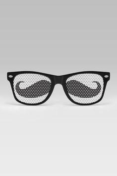 Mustache Glasses. want.