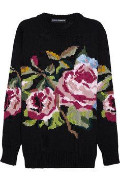 Свитер с орнаментом из коллекции Dolce & Gabbana: Вязание крючком и спицами