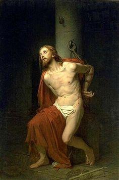 Spiritual Images, Religious Images, Religious Art, Jesus Our Savior, Jesus Lives, Christian Images, Christian Art, Jesus Christ Painting, Flagellation