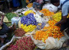 Calcuta y su mercado de las flores
