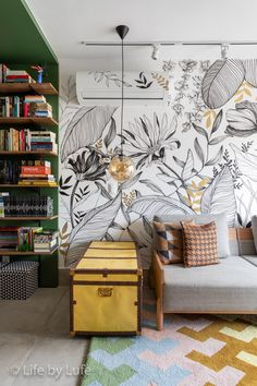 Creative Wall Painting, Wall Painting Decor, Wall Decor, Wall Murals Bedroom, Mural Wall Art, Bedroom Decor, Home Wallpaper, Wall Design, Diy Home Decor