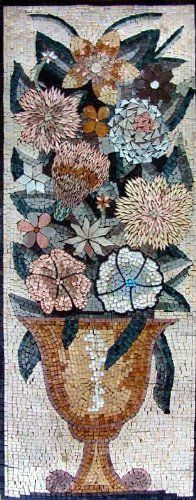 18x46 Lovely Flower Marble Mosaic Art Tile Wall Mural by mozaico. $299.00. Mosaics have endless uses and infinite possibilities! They can be used indoors or outdoors, be part of your kitchen, decorate your bathroom and the bottom of your pools, cover walls and ceilings, or serve as frames for mirrors and paintings.