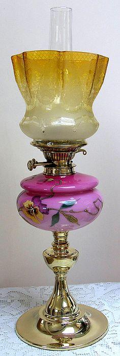 Beautiful Flower Pattern Oil Lamp