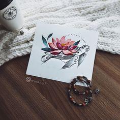 #tattoo #tat #tattoosketch #tattoosketches #tattooartist #art #artlife #artoftheday #artist #pic #picoftheday #picture #illustrator #illustration #illustrate #vsco #vscocam #color #watercolor #watercolortattoo #linework #line #mandala #instaart #turtle #turtlesketch #lotus #lotustattoo