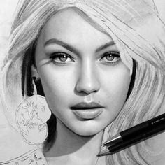Repost from @victorz777  @gigihadid drawing work in progress ..  working on a speed drawing of this too looking forward to showing it to you!:)   FOLLOW @ladyterezie & TAG your artworks #LADYTEREZIE to be FEATURED!  HOT TIPS CLICK link in my profile   via http://instagram.com/ladyterezie