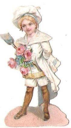 Wafers-gloss-image-scrap-that-cut-child-7-7-cm-boy-sailor-flowers