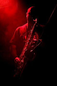"♫♪ MUSIC ♪♫ Photo ""Saxo"" by Silvia Romero Pareja black & red"