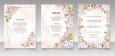 Premium Vector | Elegant floral template wedding card Wedding Invitation Card Template, Wedding Invitations, Thank You Boyfriend, Wedding Cards, Templates, Elegant, Floral, Wedding Ecards, Classy