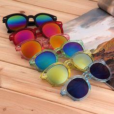Fashion Women Lovely Retro Round Frame Sunglasses Summer Cool Eyewear Eye Relaxation