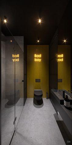 Insvire company office on Behance Wc Design, Toilet Design, Washroom Design, Bathroom Interior Design, Coffee Shop Interior Design, Gym Interior, Contemporary Bathroom Designs, Restaurant Design, Behance