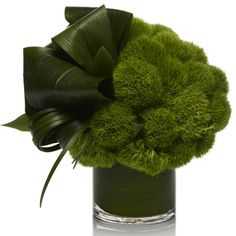 contemporary green floral arrangement - could someone tell me the flowers/leaves… Design Floral, Deco Floral, Arte Floral, Modern Floral Arrangements, Wedding Flower Arrangements, Wedding Flowers, Lily Wedding, Send Flowers, Wedding Bouquets