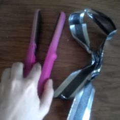 Use a straightening iron to get wrinkles out of ribbons, scraps of cloth, etc.