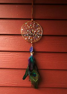 """Pisces Sign Astrological Hand Woven Gold 5"""" Native American Dream Catcher by The Emerald Lotus on Etsy, $34.00 Native American Astrology, Dream Catcher Mobile, Pisces Sign, Dream Catcher Native American, Blue Lace Agate, Dreamcatchers, Boho Hippie, Dream Big, Lapis Lazuli"""