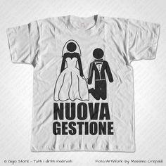 Magliette Addio al Celibato Nuova Gestione T-Shirt Matrimonio divertenti per Lo Sposo, Personalizza adesso! ->  http://www.gigiostore.it/prodotto/maglietta-addio-celibato-nuova-gestione/