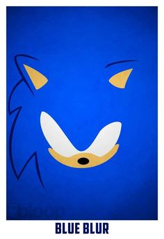 Minimalist Childhood Characters Art - Sonic The Hedgehog