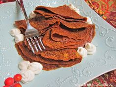 Vegan Gingerbread Crepes - I'd make it without the oil for a healthier version - Fragrant Vanilla