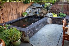 "Looking for pictures/ideas for raised ""natural"" style ponds"