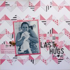 This is a very special photo to me as it's the last photo I have with my cat Casper - I gave him a big hug before going to university, and a few weeks later he was run over . The pattern is called iHeart Chevron, so much fun trying out quilting patterns! Thank you for the challenge @pollyspapercrafts ! #pollyspapercrafts #scrapbook #scrapbooking #quilt #quilting #pattern #ppgetquilted #cratepaper #cpheartday #cphellolove #cat #casper #love