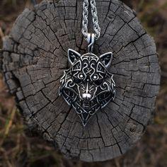 Bronze am Band Anhänger ~ FENRIR ~ Lokis Wolf Viking
