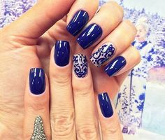 Blue and nude