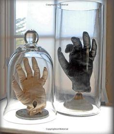 stuffed gloves in bell jars--Artful Halloween: 31 Frightfully Elegant Projects: Susan Wasinger: