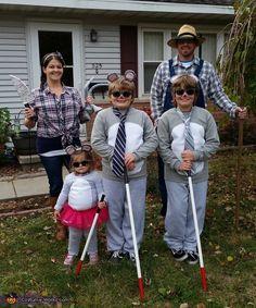 See How They Run Family Halloween Costume Idea