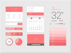 Freebie: Flat / UI Kit. From: Sebastiaan Scheer. Import if for free for your mockup: http://mockupbuilder.com/Gallery/702