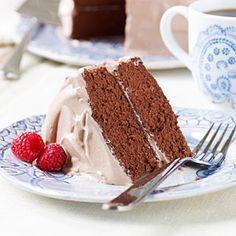 Diabetic Raspberry Mocha Cake from MyRecipes.com